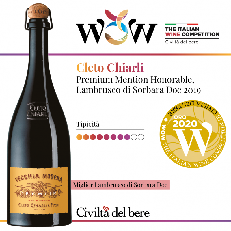 WOW: Vecchia Modena Premium awarded by WOW with the God Medal and as